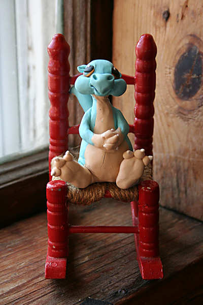 dragon in rocking chair